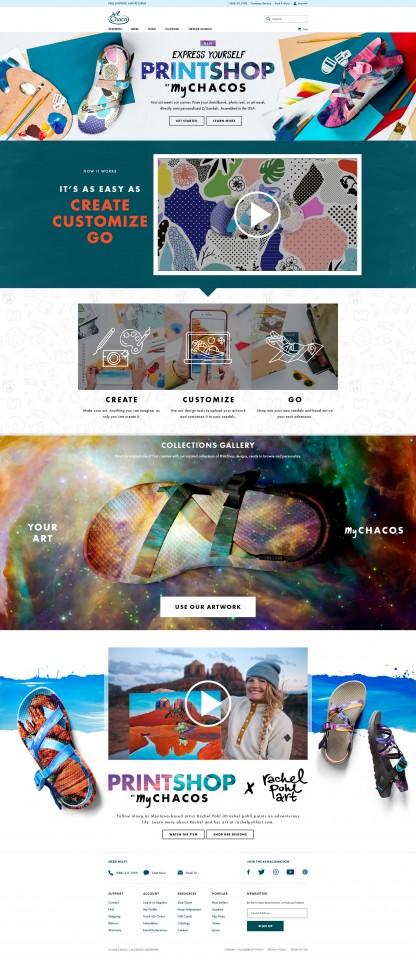 Landing Page, Desktop
