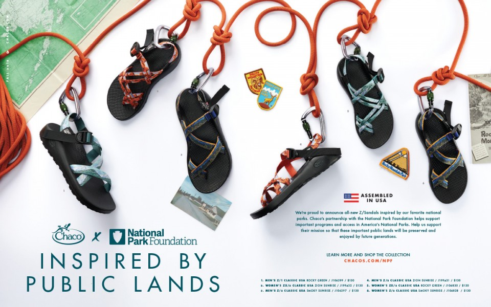 National Park Sandals Spread