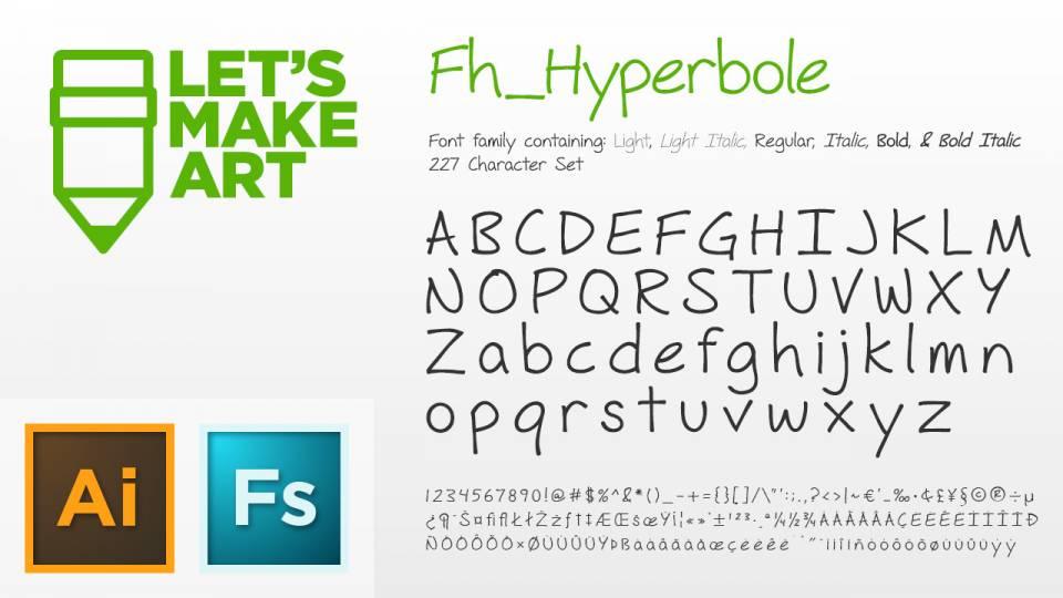 Fh_Hyperbole Font (Complete)